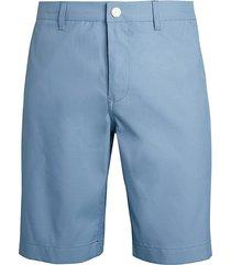 bonobos men's highland striped slim golf shorts - blue - size 38