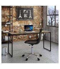 mesa de escritório studio marrom escuro 150 cm