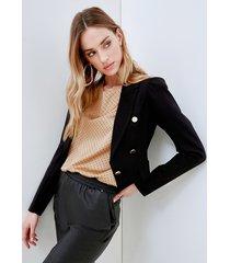 motivi giacca blazer con motivo bottoni donna nero