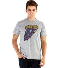 camiseta ouroboros manga curta pizza espacial masculina