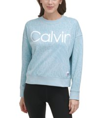 calvin klein performance printed french terry sweatshirt