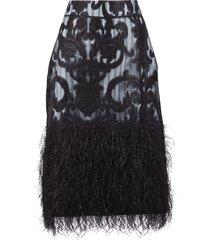 ganni feathery skirt