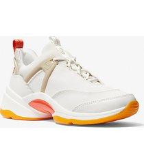 mk sneaker sparks in materiale misto - bianco ottico cangiante (bianco) - michael kors