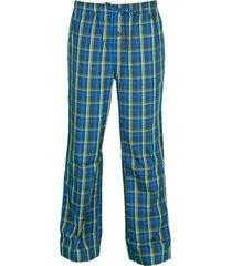 schiesser pyjamabroek ruit donker blauw