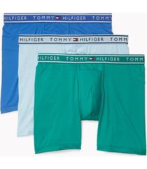 tommy hilfiger men's flx evolve stretch boxer brief 3pk light blue/green/sky blue - m