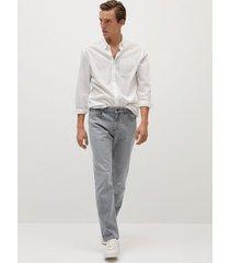 bob grijze straight-fit jeans