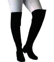 botas en microfibra extralargas para mujer outfit strasbourg negro