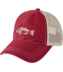 saltwater bum mesh cap, washed red