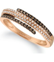 le vian chocolatier chocolate diamonds (1/10 ct. t.w.) & vanilla diamonds (1/10 ct. t.w.) ring in 14k rose gold