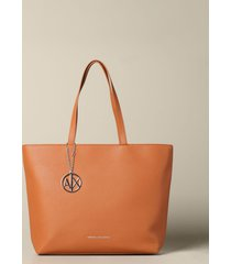 armani exchange tote bags armani exchange shopping bag in synthetic leather