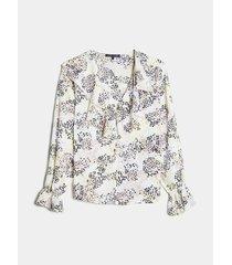 blusa estampada con boleros