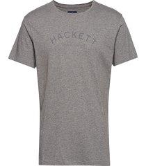 classic logo tee t-shirts short-sleeved grå hackett london