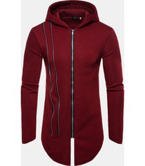 mens warmer polar fleece retro felpe con cappuccio ampia maniche lunghe con zip e zip