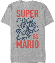nintendo men's super mario flying raccoon mario short sleeve t-shirt