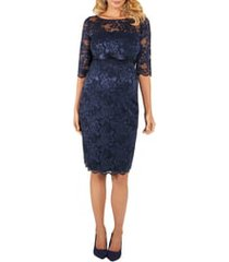 women's tiffany rose amelia lace maternity cocktail dress, size 4 - blue