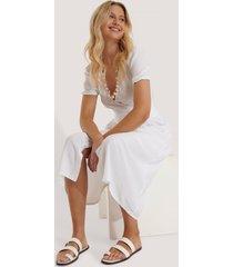 na-kd shoes remsandaler i läder med tårem - white