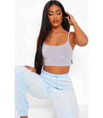 fleece glitter pyjama broek met wolkenprint, blue