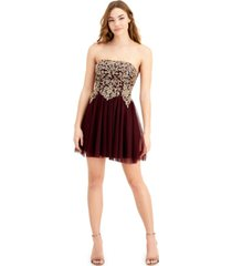 city studios juniors' applique-bodice dress