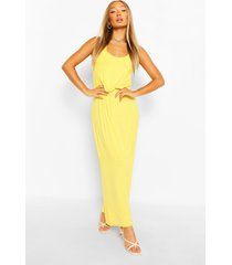 maxi-jurk met racerback, geel