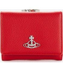 vivienne westwood women's johanna small frame wallet - red
