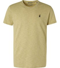 no excess t-shirt crewneck slub yarn dyed str green