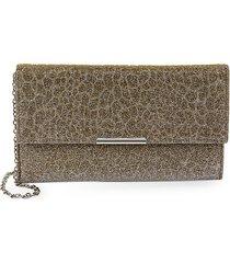 la regale women's animal-pattern jacquard envelope clutch - gold