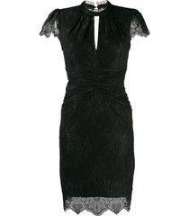 three floor classic expression dress - black