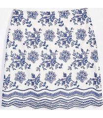 loft petite floral embroidered shift skirt
