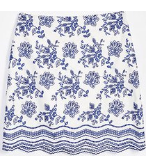 loft petite floral embroidered shift skirt