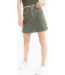 bar iii denim cargo skirt, created for macy's