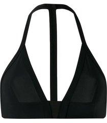 rick owens thin strap bikini top - black