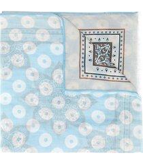 altea mixed-print lightweight scarf - blue