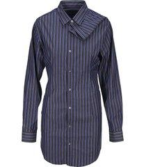 y/project asymmetric neck shirt dress