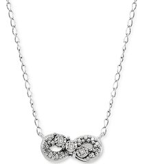 diamond accent infinity pendant necklace in sterling silver