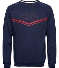 authentic sweatshirt sweat-shirt tröja blå boss