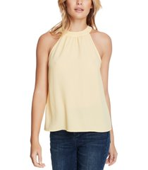 1.state gathered high-neck blouse