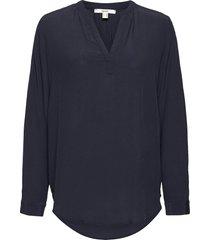 blouses woven blus långärmad blå esprit casual