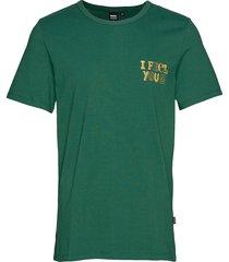 kobe tee t-shirts short-sleeved grön dr. denim