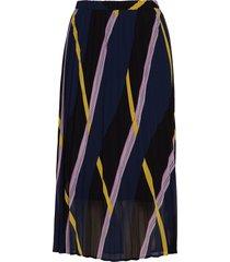 moe pleated skirt knälång kjol blå just female