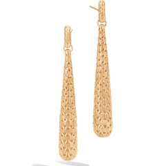 women's john hardy classic chain 18k gold drop earrings