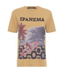 t-shirt feminina ipanema ouro - marrom