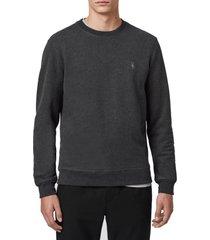 men's allsaints raven slim fit crewneck sweatshirt, size xx-large - grey