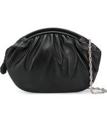 rodo zipped oversized clutch - black