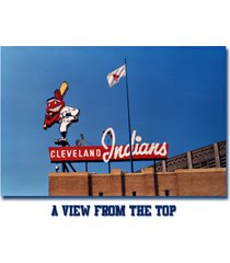 """cleveland indians vintage post card """"a view from the top"""" 2.5 x3.5 fridge magnet"""