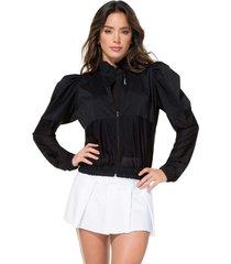 chaqueta poliéster talla única ¡precio especial!-1 negro 95083