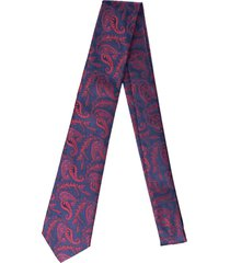 gravata alfaiataria burguesia jacquard 1260 fios azul marinho - azul - masculino - dafiti