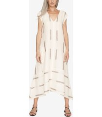 b new york printed v-neck dress