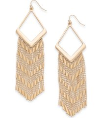 thalia sodi gold-tone fringe chandelier earrings, created for macy's