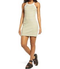 women's bp. ringer rib tank dress, size xx-small - green