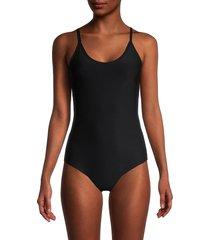commando women's butter lifted cami bodysuit - black - size s